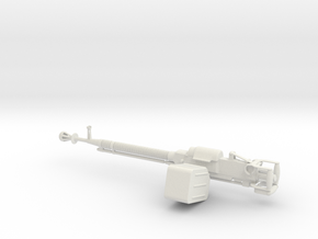 12.75mm DShK machine gun 1:12 in White Natural Versatile Plastic
