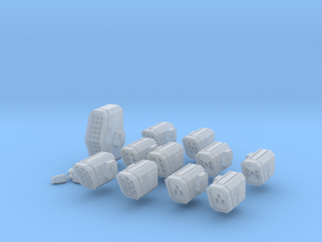 WoB Missile Weapon Pack A in Smooth Fine Detail Plastic