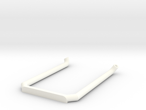 Pipe-4mm Uten Potte in White Processed Versatile Plastic