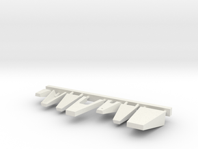 1/72 scale Bridge Front Platforms in White Natural Versatile Plastic