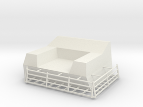 1/72 Burke CWIS Front Chair in White Natural Versatile Plastic