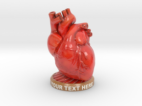 Valentine's Heart - Customizable Message in Coated Full Color Sandstone