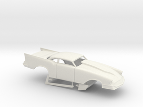 1/12 57 Chevy Pro Mod No Scoop in White Natural Versatile Plastic