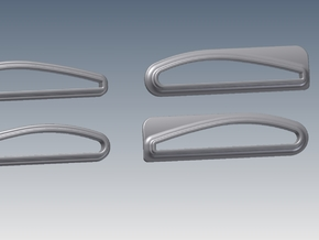 1:6 BK117 Tail  Stabiliser Mounts in White Strong & Flexible Polished