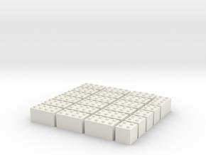 1/87 HO Bausteine fuer Schuettgutboxen, 19+4 in White Natural Versatile Plastic