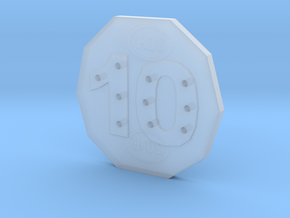 10-hole, Number 10, 10 Sided Button in Smooth Fine Detail Plastic