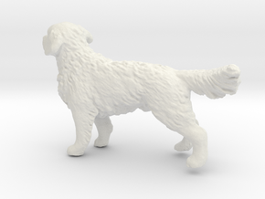 1/24 Golden Retriever Young Standing in White Natural Versatile Plastic