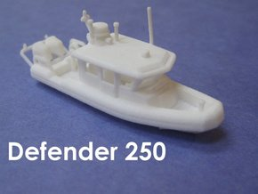 Defender 250 Rigid Inflatable Boat (1:148) in White Strong & Flexible