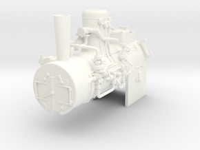 Henschel boiler for scale 1:22.5 in White Strong & Flexible Polished