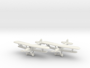 Hawker Demon (RAAF version) 1/285 6mm in White Natural Versatile Plastic