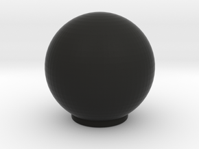 Railbox Knob Round in Black Natural Versatile Plastic