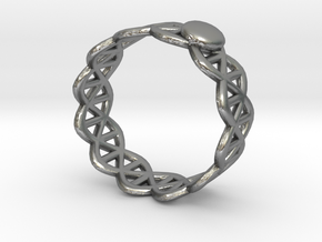Ring - Silver with Unique Stylish Pattern in Natural Silver: 5 / 49