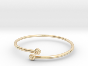 Tafari Thompson Bypass Cuff with Embossed Spiral in 14K Yellow Gold: Small