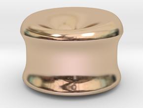 "Involuta 3-4"" in 14k Rose Gold Plated Brass"