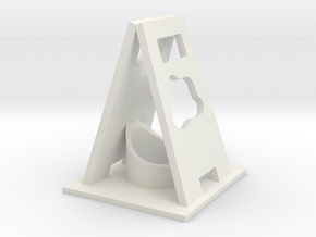 Caution Wet desktop.stl in White Strong & Flexible