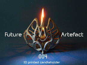 Future Artefact 004 in Polished Bronzed Silver Steel