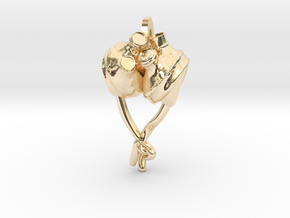 Artificial Heart Pendant! in 14K Yellow Gold