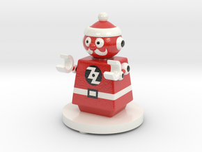 ZOZtheBOT - Mr. SANTA 1 in Glossy Full Color Sandstone