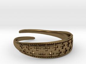 Viking Bracelet 2 in Natural Bronze: Medium