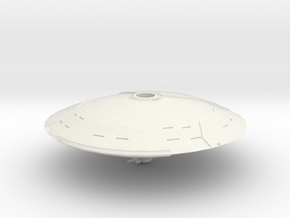 Mars Saucer in White Natural Versatile Plastic