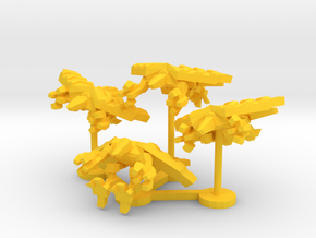Colour Royal Falcons Star Knight Wing in Yellow Processed Versatile Plastic