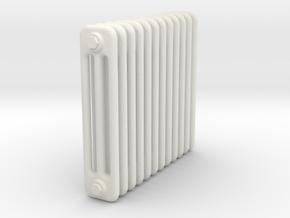 Radiator 12 Rippen ohne Fuss in 1:45 (Spur 0) in White Natural Versatile Plastic