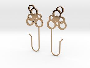 Exhale Bubble Earrings in Polished Brass