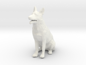 1/24 German Shepherd  in White Natural Versatile Plastic