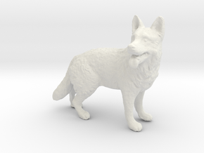 1/24 German Shepherd Standing in White Natural Versatile Plastic