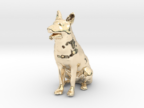 1/24 German Shepherd  in 14k Gold Plated Brass