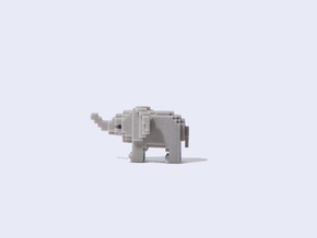 Baby Elephant in Full Color Sandstone