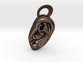 Ear Pendant in Polished Bronze Steel