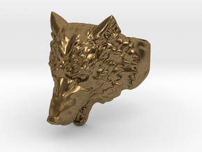 Wolf Head Ring in Natural Bronze: 9 / 59