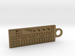 OP-1 Keychain / Pendant in Natural Bronze