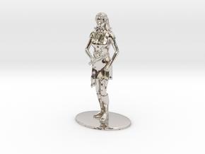 Elven Magic-User Miniature in Platinum: 1:60.96