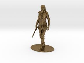 Xena Miniature in Raw Bronze: 1:60.96