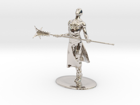 Giant Slayer Miniature in Rhodium Plated Brass: 1:60.96