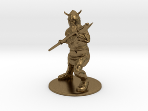 Dwarf with Bardiche Miniature in Natural Bronze: 1:60.96