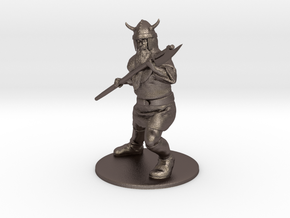 Dwarf with Bardiche Miniature in Polished Bronzed Silver Steel: 1:60.96