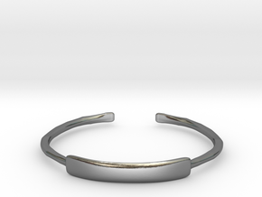 Hammered Cuff Bracelet in Polished Silver