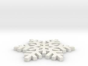 Snowflake in White Strong & Flexible: Medium