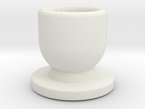 Modeling cup.stl in White Natural Versatile Plastic: Medium