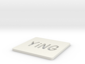 YiNG Coasters in White Natural Versatile Plastic