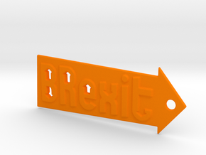 Brexit Keychain in Orange Processed Versatile Plastic