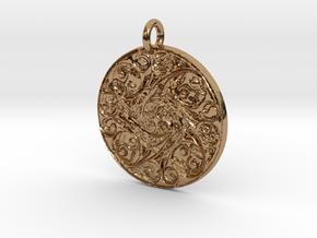 Spiritual Soul Pendant in Polished Brass