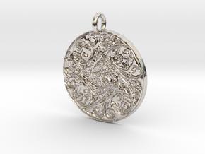 Spiritual Soul Pendant in Rhodium Plated Brass