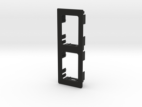 2 OEM Vertical Panel 91mmx33mm in Black Natural Versatile Plastic