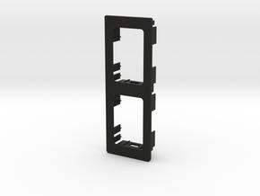 2 OEM Vertical Panel 91mmx33mm in Black Natural Versatile Plastic
