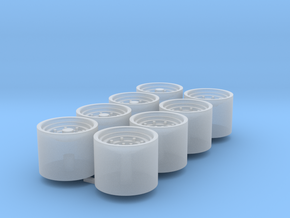 1/64 9r Wheels Duals Packaged Of 8 in Frosted Ultra Detail