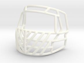 Live Mask Samurai 2.0 Big Grill for Speed Mini Hel in White Processed Versatile Plastic